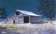C Robert Follett - Moonlit Barn