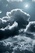 Moonlit Night Prints - Moonlit Clouds Print by Detlev Van Ravenswaay