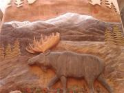 Wildlife Art Reliefs - Moose Door Panel by Stacey Mitchell