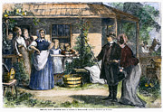 Mormon Wives, 1875 Print by Granger