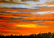 Sunrise Painting Originals - Mornin by Pete Maier