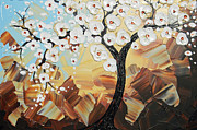 Cherry Blossoms Paintings - Morning Grace by Christine Krainock