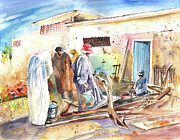 Marrakesh Paintings - Moroccan Market 02 by Miki De Goodaboom