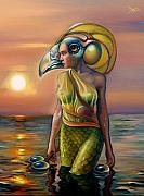 Nude Sunset Framed Prints - Morrigans Mask Framed Print by Patrick Anthony Pierson