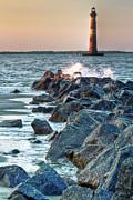 Morris Island Lighthouse Print by Drew Castelhano