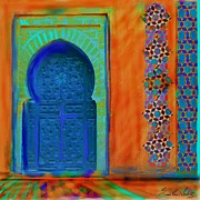 Entrance Door Painting Framed Prints - Morroccon Door Framed Print by Seema Sayyidah