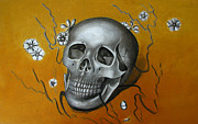 Skull Paintings - Mortality by Iglika Milcheva-Godfrey