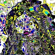 Mosaic Girl Print by Navo Art
