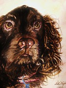 Spaniels Paintings - Mossy Oaks by Lil Taylor