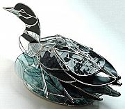 Lake Glass Art - Mother And Child by Karen Ichino