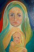 Child Jesus Paintings - Mother and Child by Suzanne Reynolds