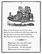 Mother Goose Prints - Mother Goose, 1833 Print by Granger