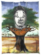 African-american Mixed Media - Mother Nature V by Anthony Burks