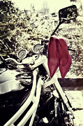 Pumps Prints - Motorcycle With Shoes Print by Joana Kruse