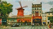 Moulin Rouge Print by Aaron Stokes