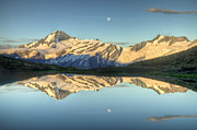 Mountain Photos - Mount Aspiring Moonrise Over Cascade by Colin Monteath