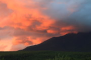 Mount Katahdin Prints - Mount Katahdin Sunset Print by John Burk