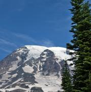 Ice Cap Framed Prints - Mount Rainier National Park Framed Print by Brendan Reals