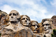 Carved Prints - Mount Rushmore Print by Olivier Le Queinec