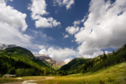 Spring Scenery Originals - Mountain and clouds by Mark Smith