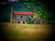 Log Cabins Photos - Mountain Cabin by Joyce  Kimble Smith