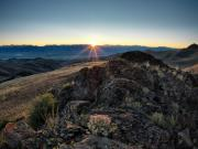 Lemhi Mountains Posters - Mountain Sunrise Poster by Leland Howard