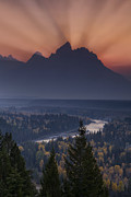 Snake River Art - Mountain Sunset by Andrew Soundarajan