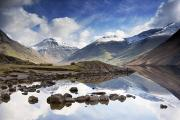 Featured Metal Prints - Mountains And Lake, Lake District Metal Print by John Short