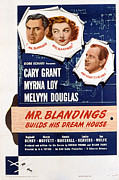 Cary Framed Prints - Mr. Blandings Builds His Dream House Framed Print by Everett