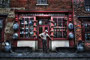 Black Country Framed Prints - Mr Langstons Hardware Shop Framed Print by Yhun Suarez