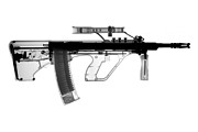 Colt Firearms For Sale Prints - Msar STG-556 Print by Ray Gunz