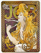 Smoker Metal Prints - Mucha: Cigarette Papers Metal Print by Granger