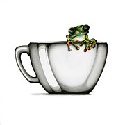 Tree Frog Art - Muggy by Christina Meeusen