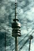 Tv Mixed Media Posters - Munich television tower Poster by Falko Follert