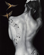Nude Music Prints - Muse-ic Print by Pat Erickson