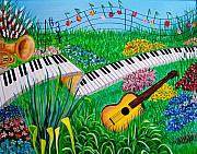Musical Garden Print by Kathern Welsh