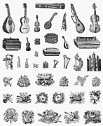 Guitar Case Framed Prints - Musical Instruments Framed Print by Granger