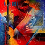Vibrant Mixed Media - Musical Textures Series by Andrea Tharin