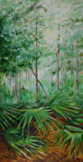 Palmettos Prints - My Backyard Print by Michele Hollister - for Nancy Asbell