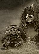 Trench Photos - My Brother My Friend I pray For Thee by Mark H Roberts