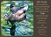 Geese And Moon Prints - My Dad Print by Debra     Vatalaro