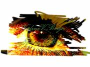 Mysterious Digital Art Originals - My eye seeks you by Nadine Birge