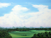 Big Skies Paintings - My heart sees clearly by Colin Perini