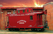 Old Caboose Posters - My Little Red Caboose Too Poster by Gary Baird