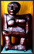 Sculptures Sculptures Sculpture Prints - My Old Model Print by Anand Swaroop Manchiraju