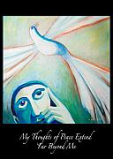 Freedom Paintings - My Thoughts of Peace Extend Far Beyond Me by Angela Treat Lyon