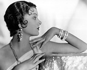 Story-hairstyles Prints - Myrna Loy, Fox, 1931 Print by Everett