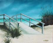 Path To Beach Posters - Myrtle Beach Poster by Lorraine Klotz