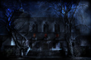 Haunted House Posters - Mysterious Zembo Shrine Poster by Shelley Neff