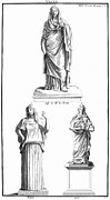 Roman Statue Prints - Mythology: Vesta Print by Granger